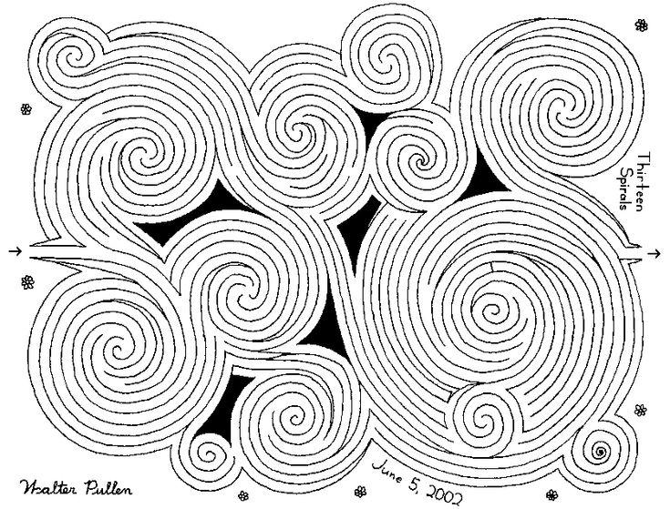 Thirteen Spirals Maze