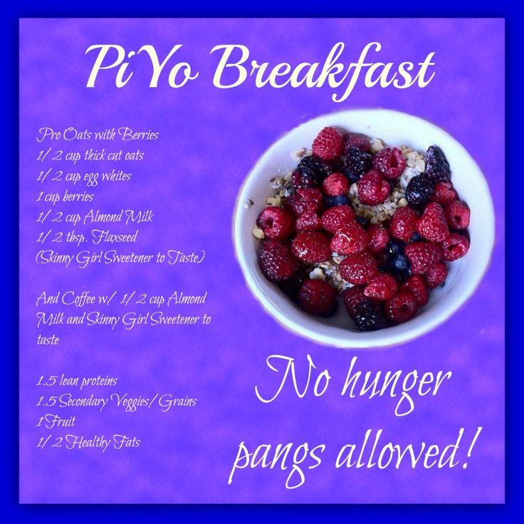 Breakfast on the PiYo Meal Plan - No hunger pangs on this plan!