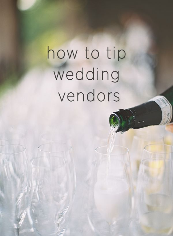 How Much To Tip Wedding Vendors Wedding Vendors Wedding