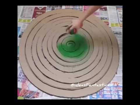 Árbol navideño con material reciclado - Cartón - YouTube