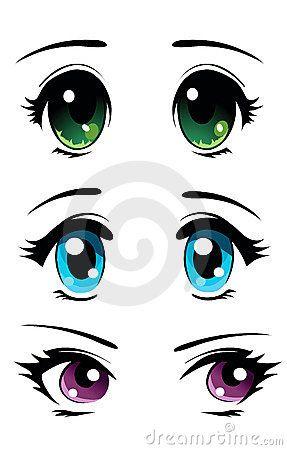 como desenhar olhos de mangá passo a passo - Pesquisa Google