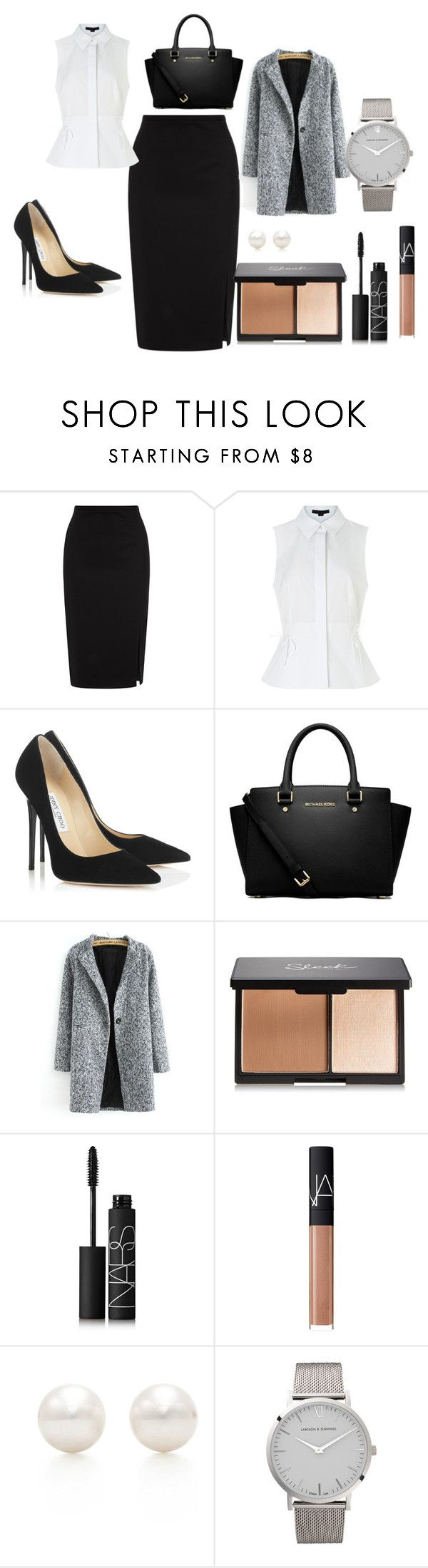 """ODWLH"" by keepsmileanna on Polyvore featuring Oasis, Alexander Wang, Jimmy Choo, MICHAEL Michael Kors, NARS Cosmetics, Tiffany & Co., Larsson & Jennings, women's clothing, women's fashion and women"