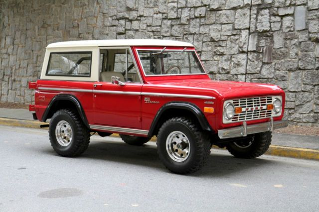 1972 Ford Bronco Red White Ford Bronco Bronco Classic Ford