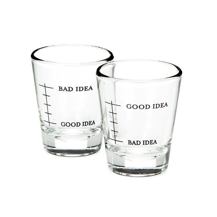Pin for Later: 90+ Clever White Elephant Gifts That Won't Break the Bank  Bad Idea/Good Idea Shot Glasses ($20)