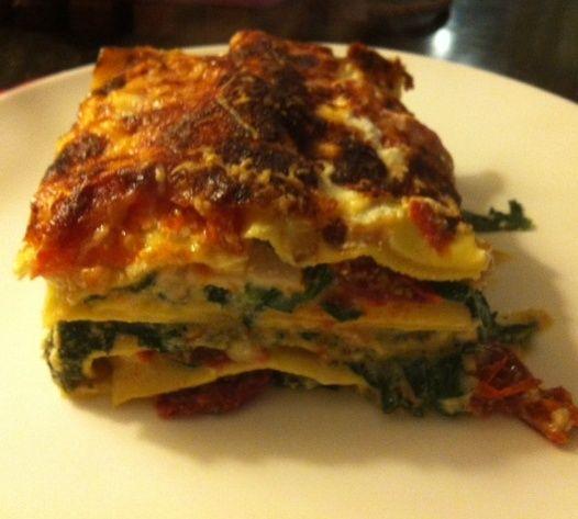 Foodelicious.nl - Online shop - Gerecht Lasagne met kip, ricotta en zongedroogde tomaten