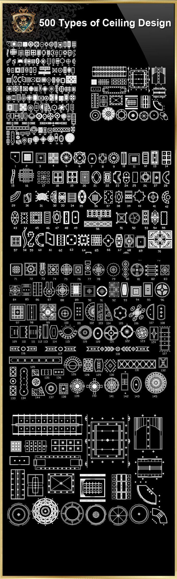 【115 Best Interior Design CAD Details 】 (Best Recommand!!)   Free