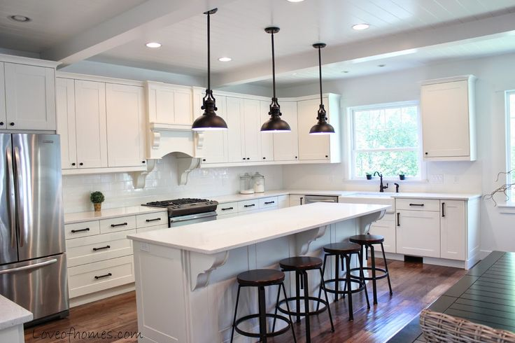Love Of Homes Kitchen Remodel Reveal Love The Ceilings Pendant Lights Expanded Kitchen And