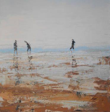 "Saatchi Art Artist Lynne Fitzpatrick; Painting, ""At Waters Edge"" #art"