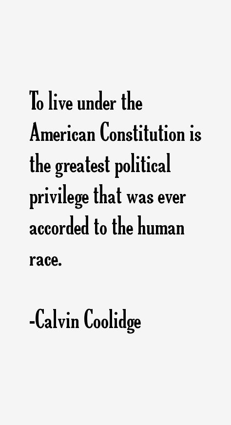 Calvin Coolidge, a great President he was!