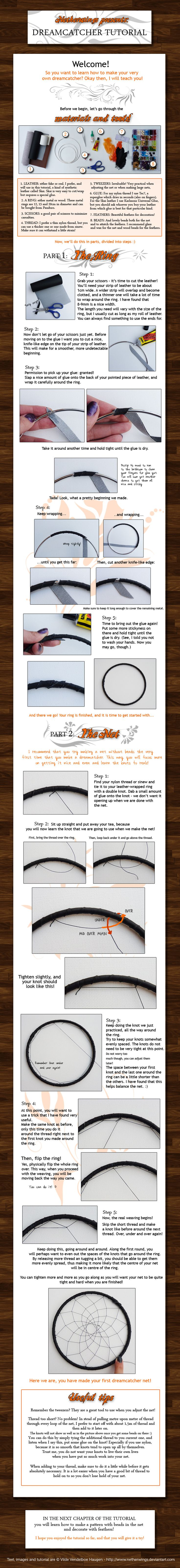 Dreamcatcher tutorial: Ch. 1 by *netherwings on deviantART