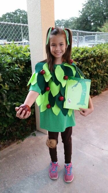 The Giving Tree costume for the book character parade at school