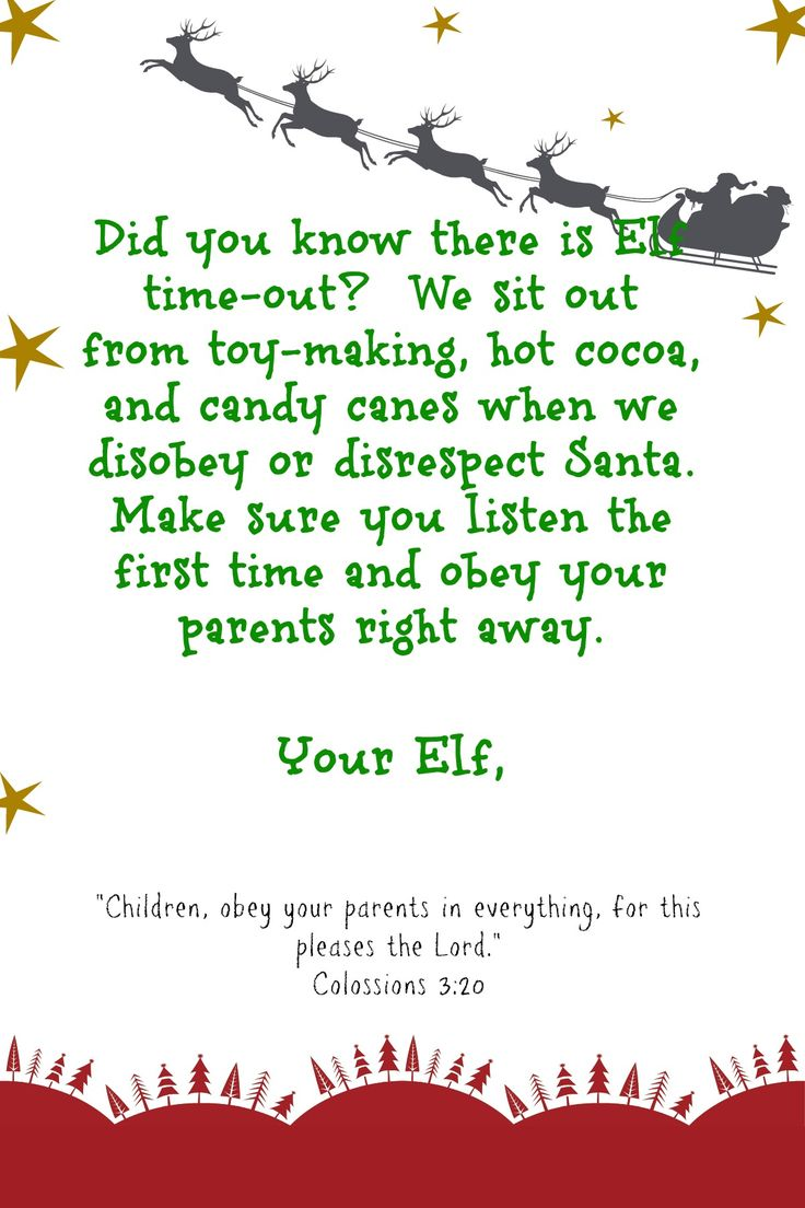 letter from elf on the shelf - Google Search