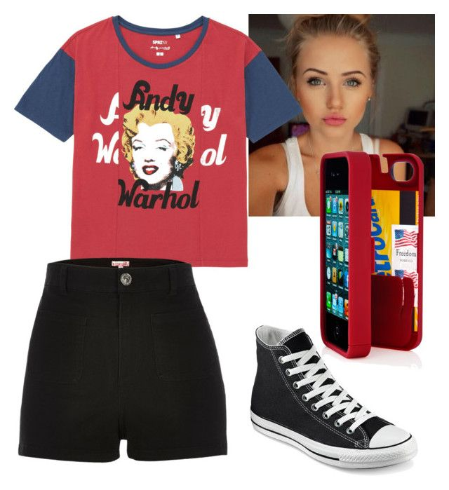 """Andy Warhol"" by jasminehekekire on Polyvore featuring Converse, Uniqlo, River Island and Eyn"
