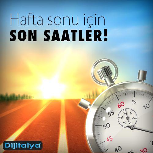 Herkese mutlu hafta sonları dileriz...  #Cuma #HaftaSonu #Tatil #Mutluluk #Dijitalya #Reklam #Baskı