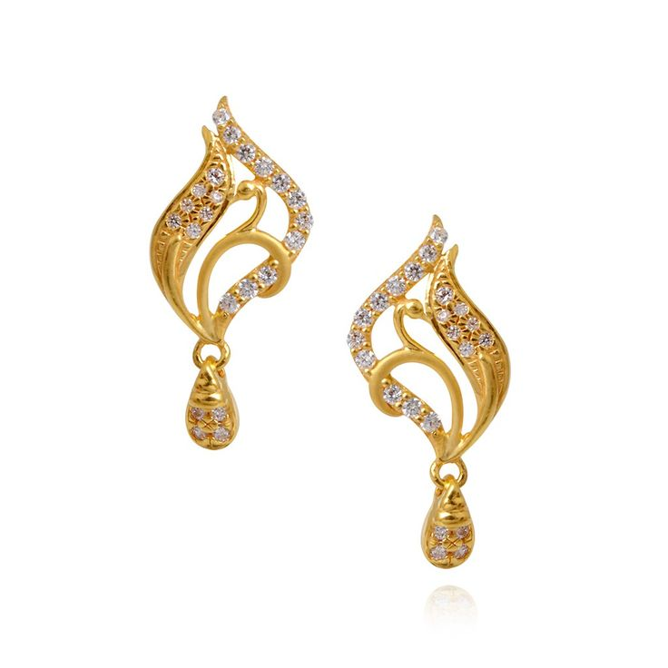 Oriana | Beautiful Fancy Peacock Earring with Hanging Drops | GRT Jewellers
