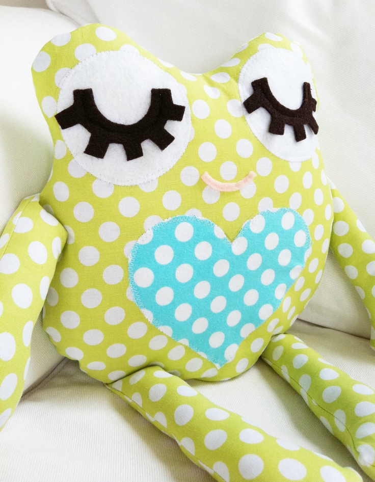 PDF Sewing Pattern Frog Pillow Toy by GandGPatterns on Etsy, via Etsy.