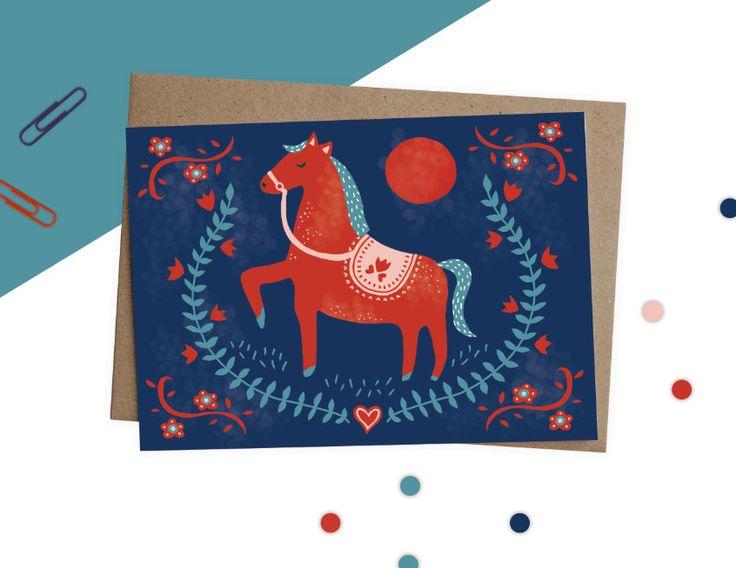 Polish Folk Art Horse - Bea Baranowska