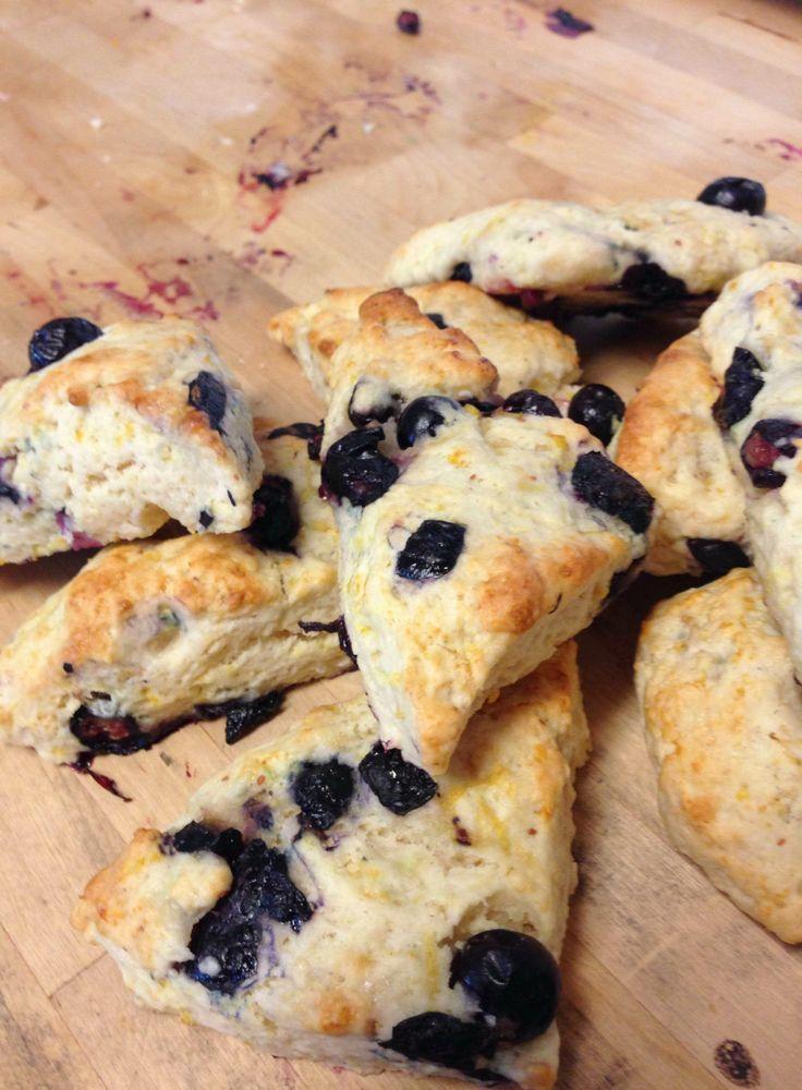 LizCaravati: Blueberry and Round Pond Meyer Lemon Citrus Syrup Scones