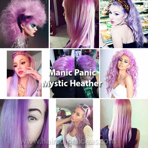 Manic Panic Mystic Heather Hair Color In 2018 Dyed