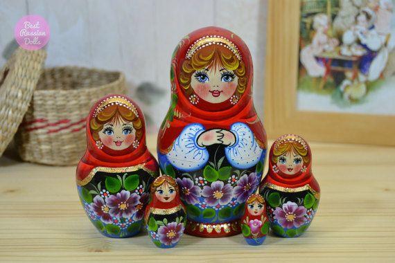 Houten matryoshka cadeau-ideeën handgemaakte door BestRussianDolls