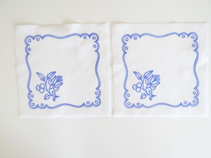 2 Kalocsa square doilies pattern print from Hungary New 6 1/4'' x 6 1/4'' m in Collectibles, Linens & Textiles (1930-Now), Lace, Crochet & Doilies | eBay