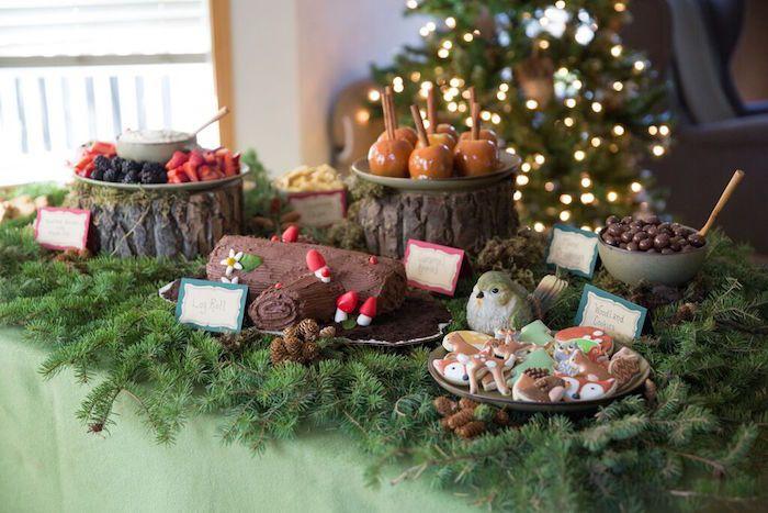 Sweet Table from a Woodland Baby Shower via Kara's Party Ideas | KarasPartyIdeas.com (11)