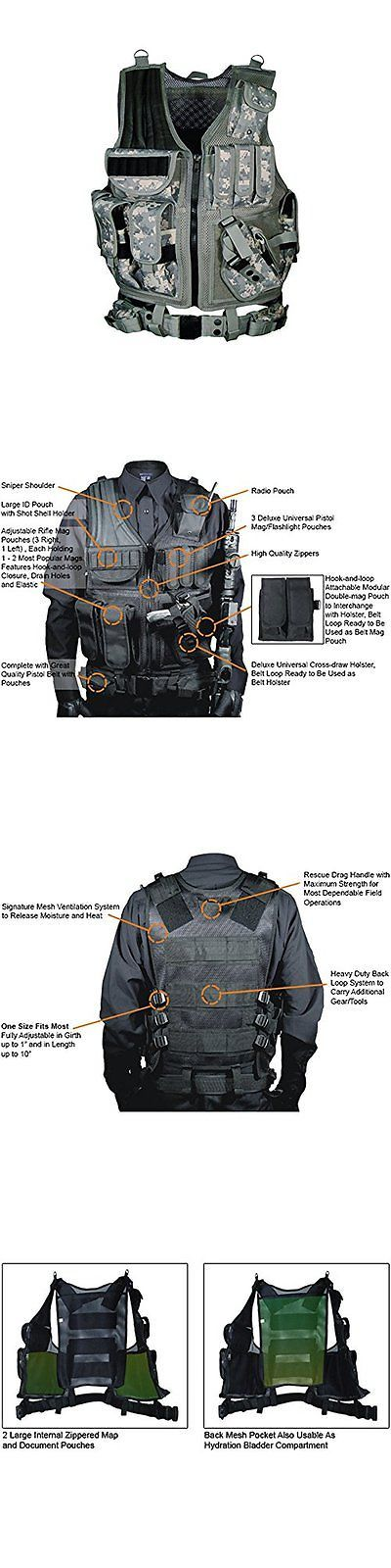Chest Rigs and Tactical Vests 177891: Utg 547 Law Enforcement Tactical Vest Army Digital Swat Gear Assault Military -> BUY IT NOW ONLY: $82.76 on eBay!
