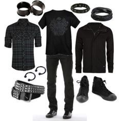 emo outfits for guys polyvore - Google Search