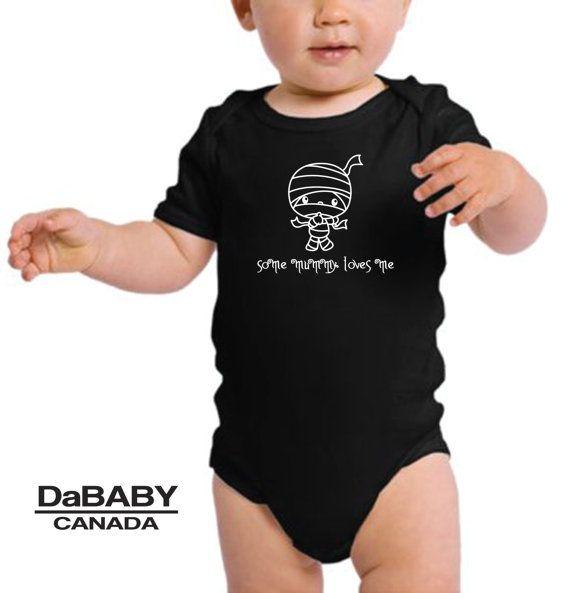 Halloween Onesie, Some Mummy Loves Me, Halloween Baby Onesie, Gender Neutral, Halloween Baby Costume, Baby 1st Halloween, Toddler Tshirt