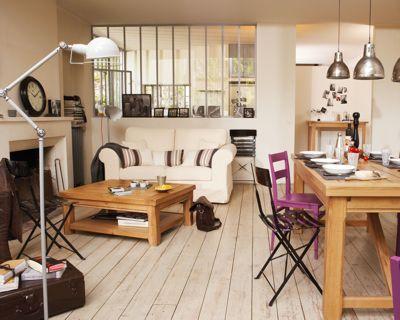salon bois blanc
