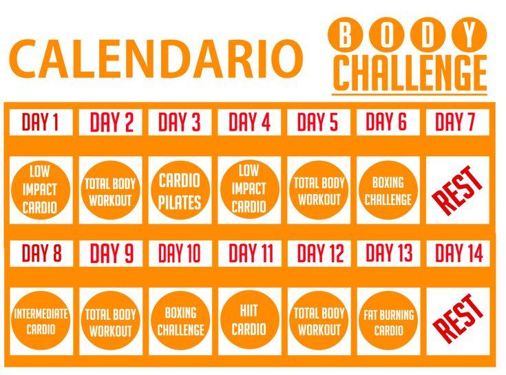 calendario esercizi per dimagrire