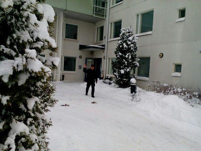 Iloinen talvinen tervehdys