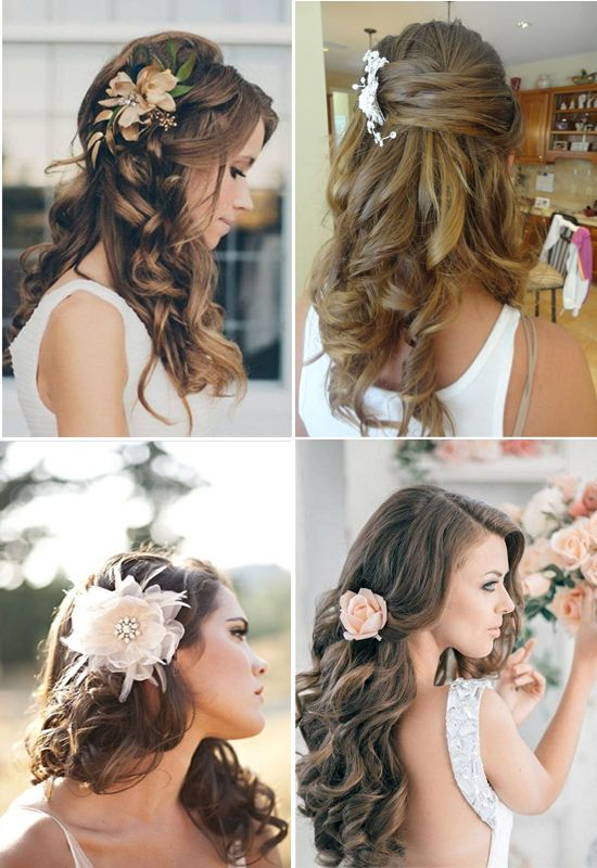 Hermosos peinados de novias con flores - Para Más Información Ingresa en: http://tiposdepeinados.com/hermosos-peinados-de-novias-con-flores/