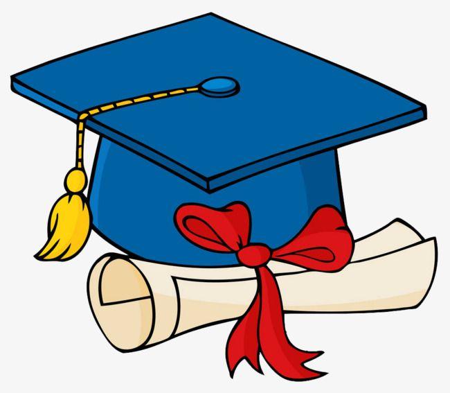 Cartoon Ilustracao De Azul Chapeu De Formatura Graduation Clip Art Blue Graduation Graduation Cap Drawing