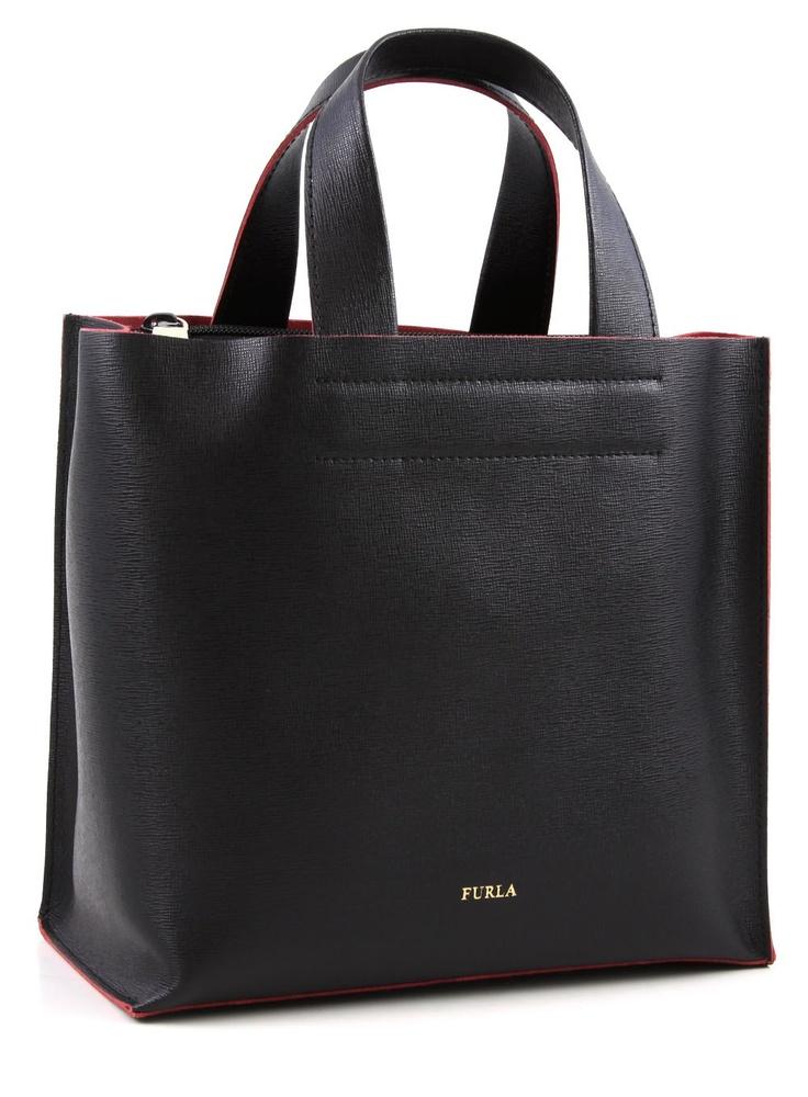 furla divide it henkeltasche leder schwarz 24 cm 702029 designer marken bags. Black Bedroom Furniture Sets. Home Design Ideas