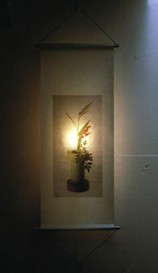 project/year : [HANGING SCROLL LIGHT] 1997   manufacturer : Marutomi Inc., Japan   photo : Yoshio Shiratori