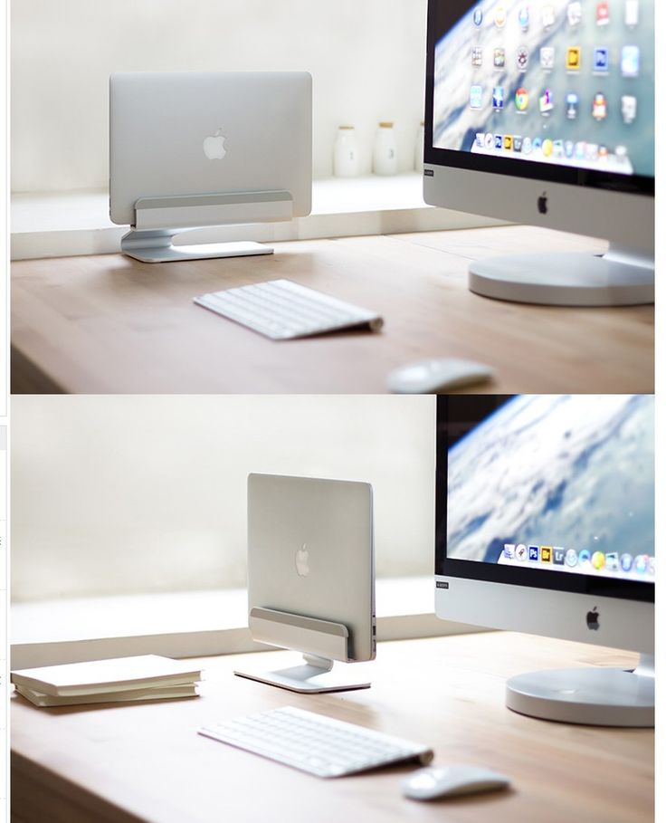 For MacBook, silver/Space saving vertical desktop stand for Apple notebooks-in Holders & Stands from Phones & Telecommunications on Aliexpress.com | Alibaba Group
