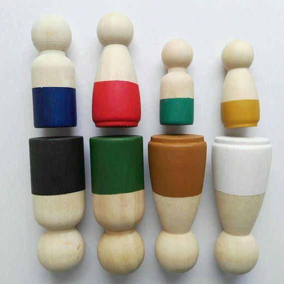 Wooden family - peg doll family