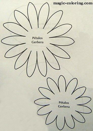 MAGIC-COLORING | Gerbera flower template
