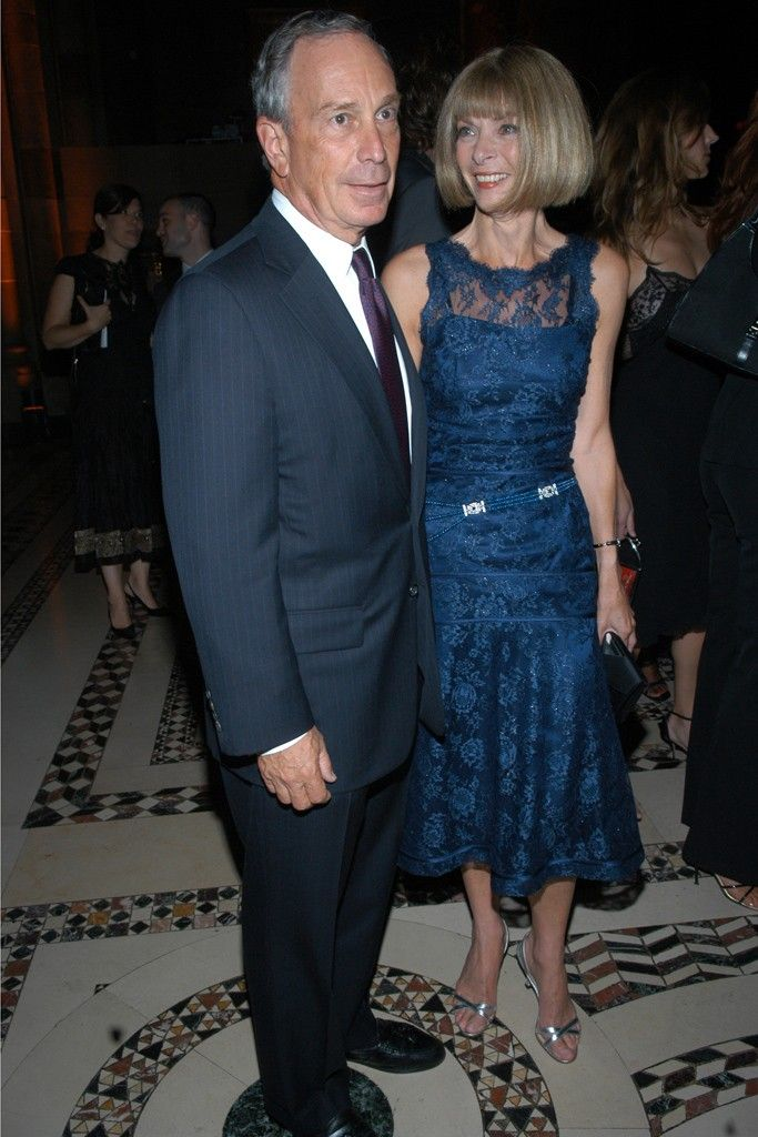 2005: With Anna Wintour at the New Yorkers For Children benefit. [Photo by Steve Eichner]