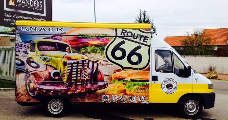 Voilà le départ du camion SNACK Route 66 !! Bravo à Francis pour cette magnifique réalisation - par SARL MALOU CRÉAMIR