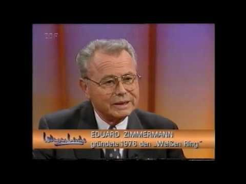 """Aktenzeichen XY: Eduard Zimmermann bei """"Willemsens Woche"""" - ZDF 1997"""