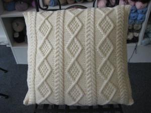 Wool cushion.