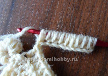 Вязание крючком с фестонами