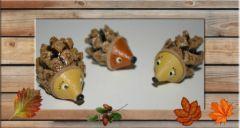 bricolage pour enfant hérisson pomme de pin automne facile pas cher, oct. 2011
