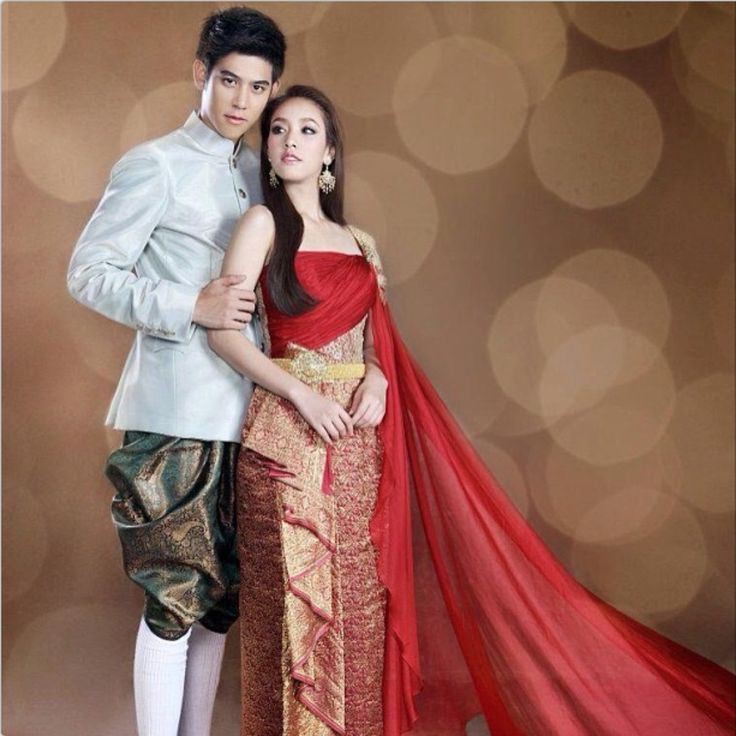 Thai Wedding Gowns: 347 Best Thai Traditional Dress Images On Pinterest