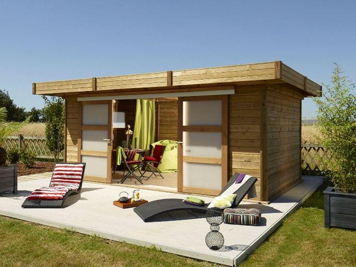 23 best montage d 39 un abri de jardin maisonelle toit plat images on pinterest projects - Abri de jardin habitable toit plat ...