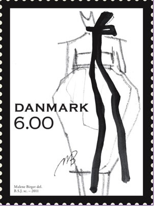 Postage stamp by Malene Birger