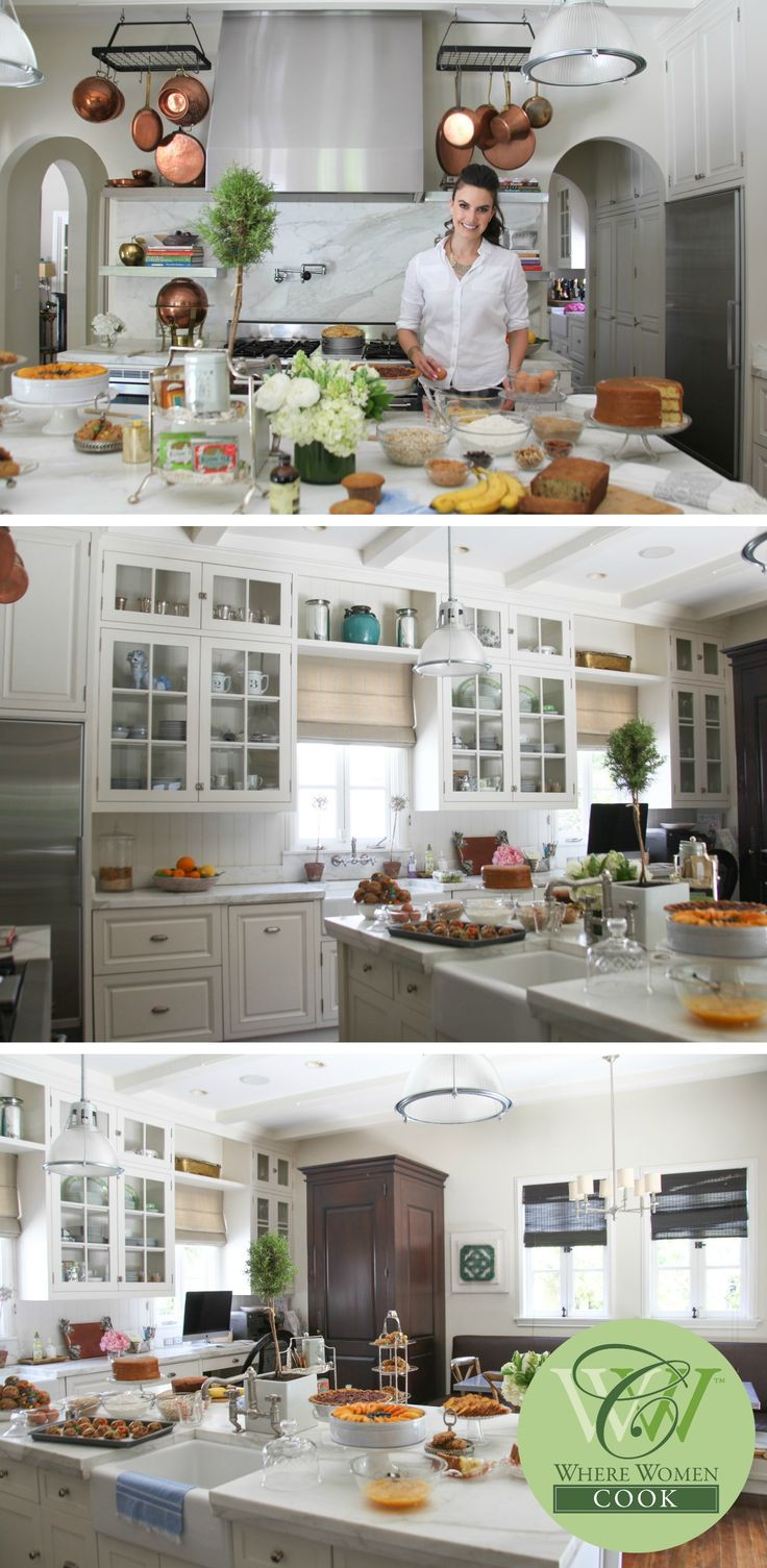 The kitchen of Elizabeth Chambers Hammer, television