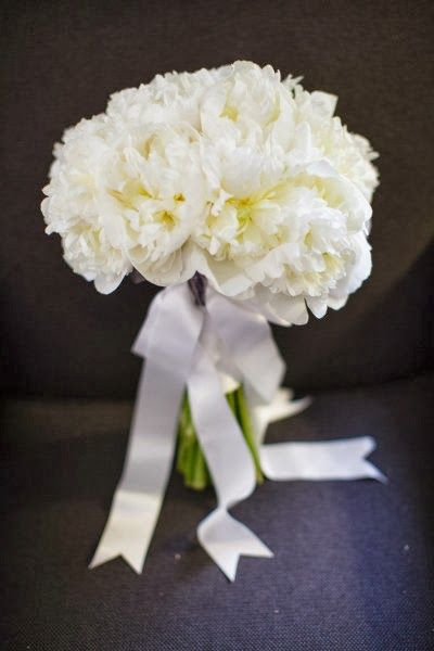 classic white peony bouquet by Floral Events